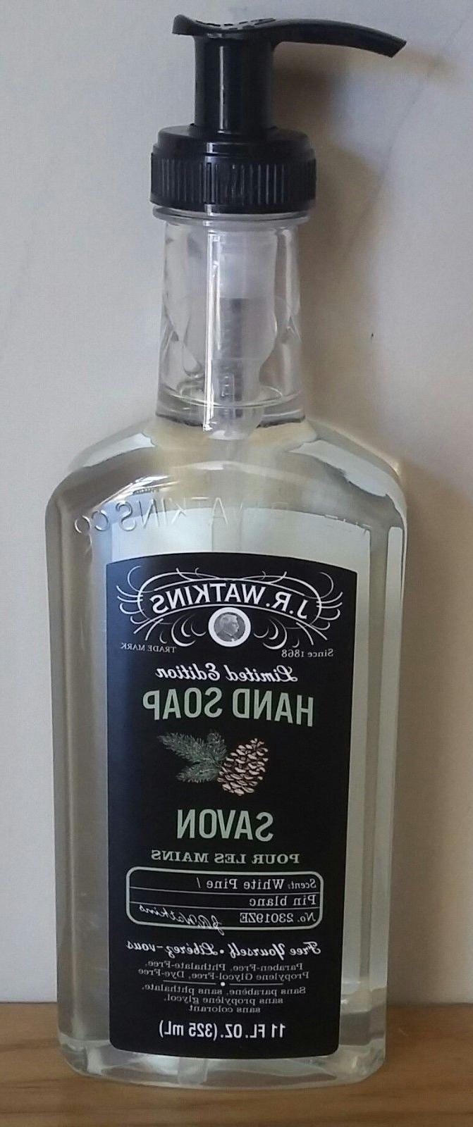 JR WATKINS Liquid Hand Soap - WHITE PINE scent  11 oz