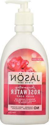 Jason Natural-Invigorating Rosewater Pure Natural Hand Soap