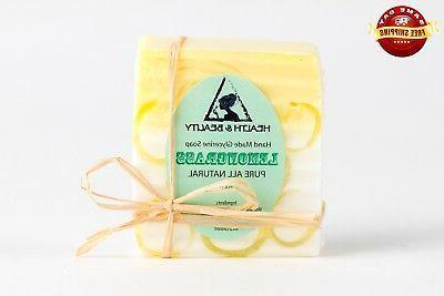 LEMONGRASS SOAP BAR HAND MADE by H&B Oils Center NATURAL MOI