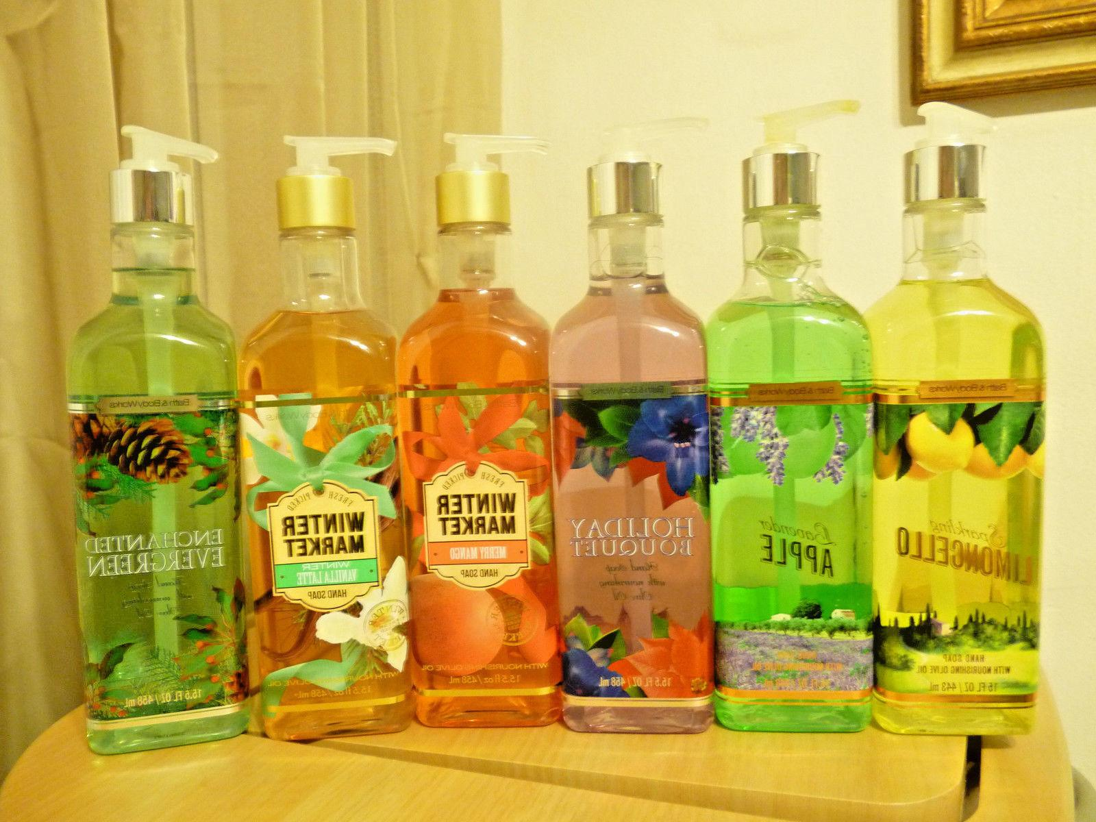 Lot 2 Bath & Body Works Hand Soap w/ Nourishing Olive Oil BI