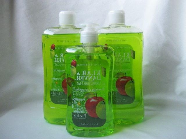 Lot of 3 Klar and Danver Liquid Hand Soap Apple Fields Pump
