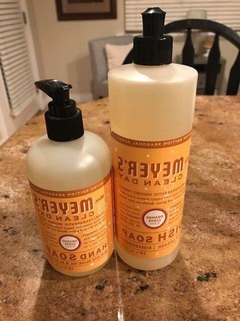 Mrs. Meyer's Clean Day Orange Clove Scent Dish Soap and Hand