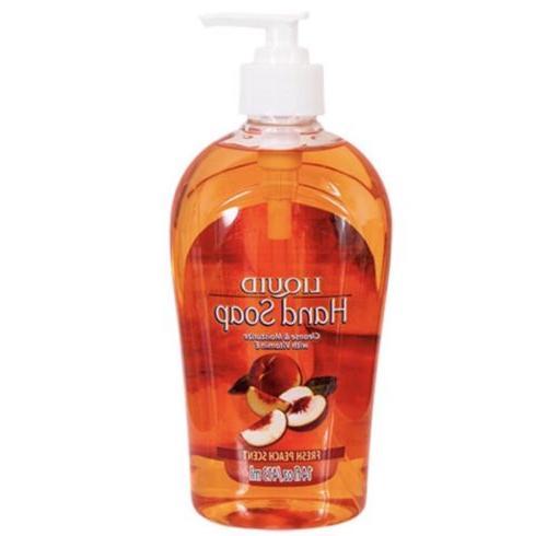 Peach Scent Liquid Hand Soap Dispensers Hand Soaps & Sanitiz