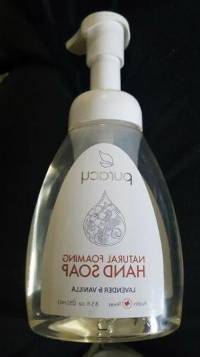 Puracy  Natural Foaming Hand Soap  Lavender   Vanilla  8 5 f