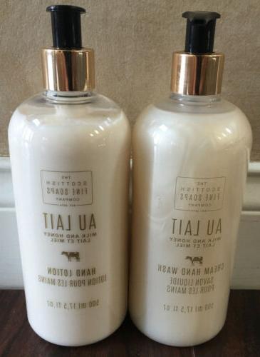 Scottish Fine Soaps -  AU LAIT Milk & Honey Cream Hand Soap