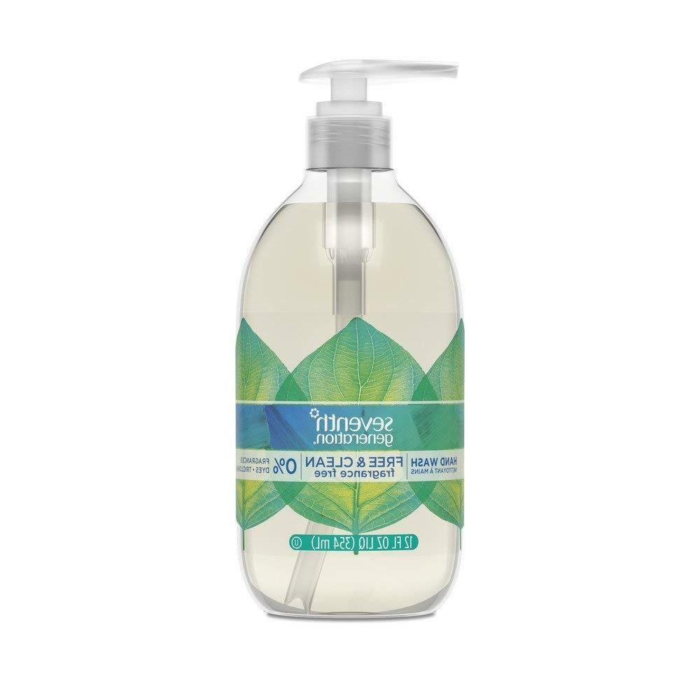 Seventh Generation Hand Wash Soap, Free & Clean Unscented, 1