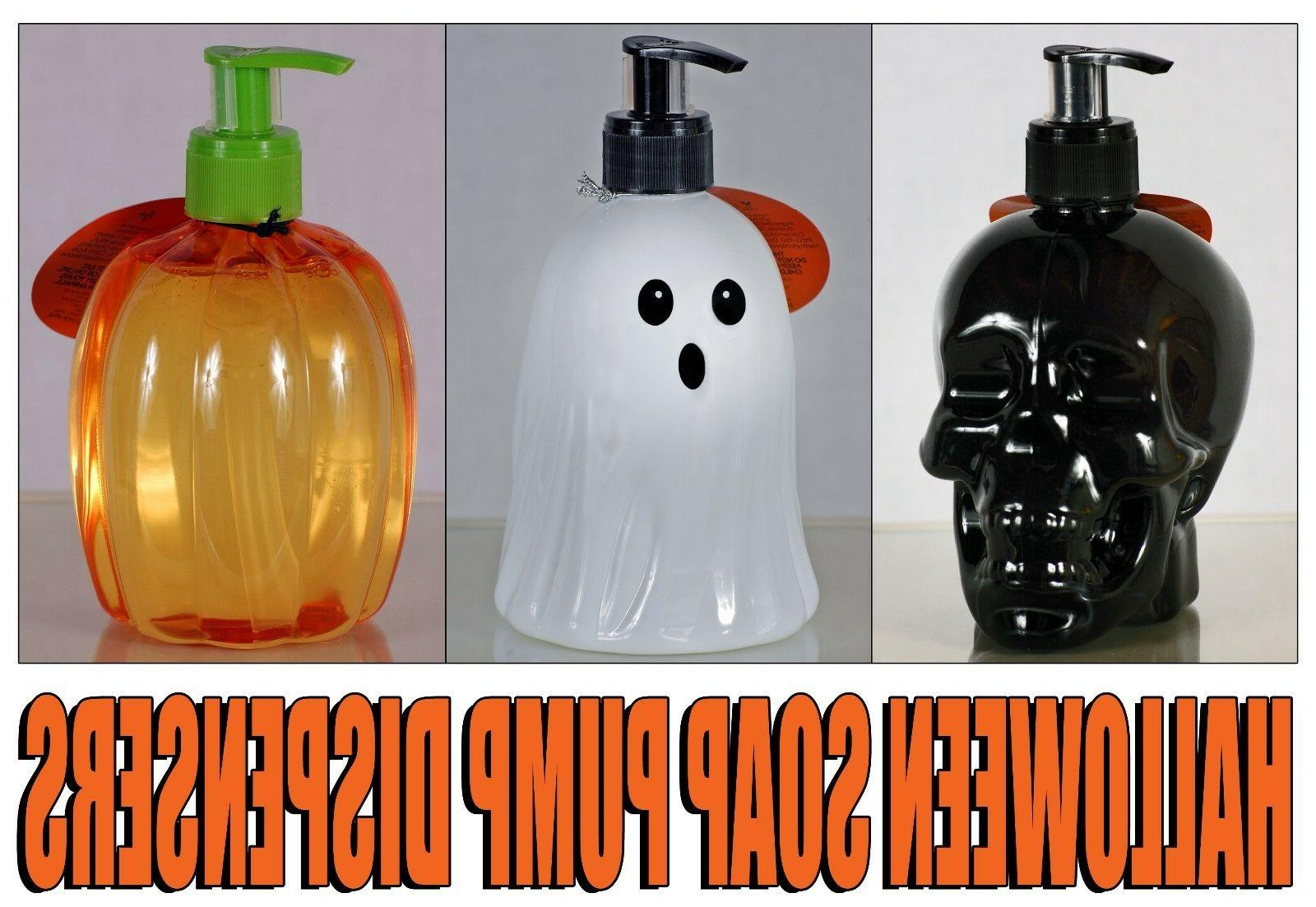Sealed NEW Simple Pleasures Hand Soap Refillable Pump Dispensers Halloween