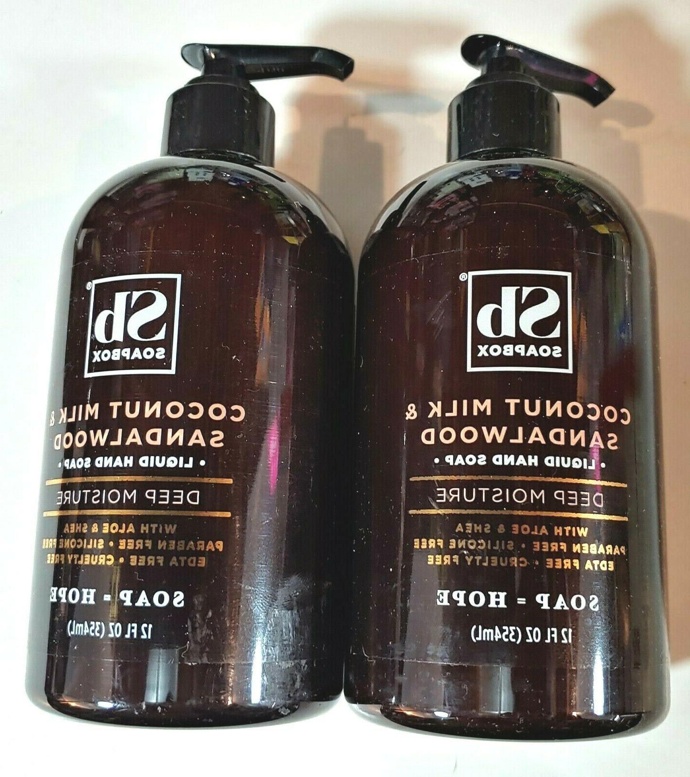 Soapbox Coconut Milk & Sandalwood Liquid Hand Soap, 12 fl oz