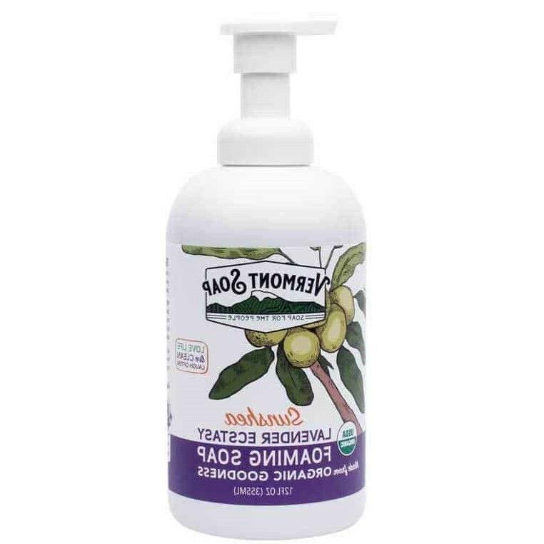 Vermont Soap Lavender Ecstasy Organic Foaming Hand Soap 12 o