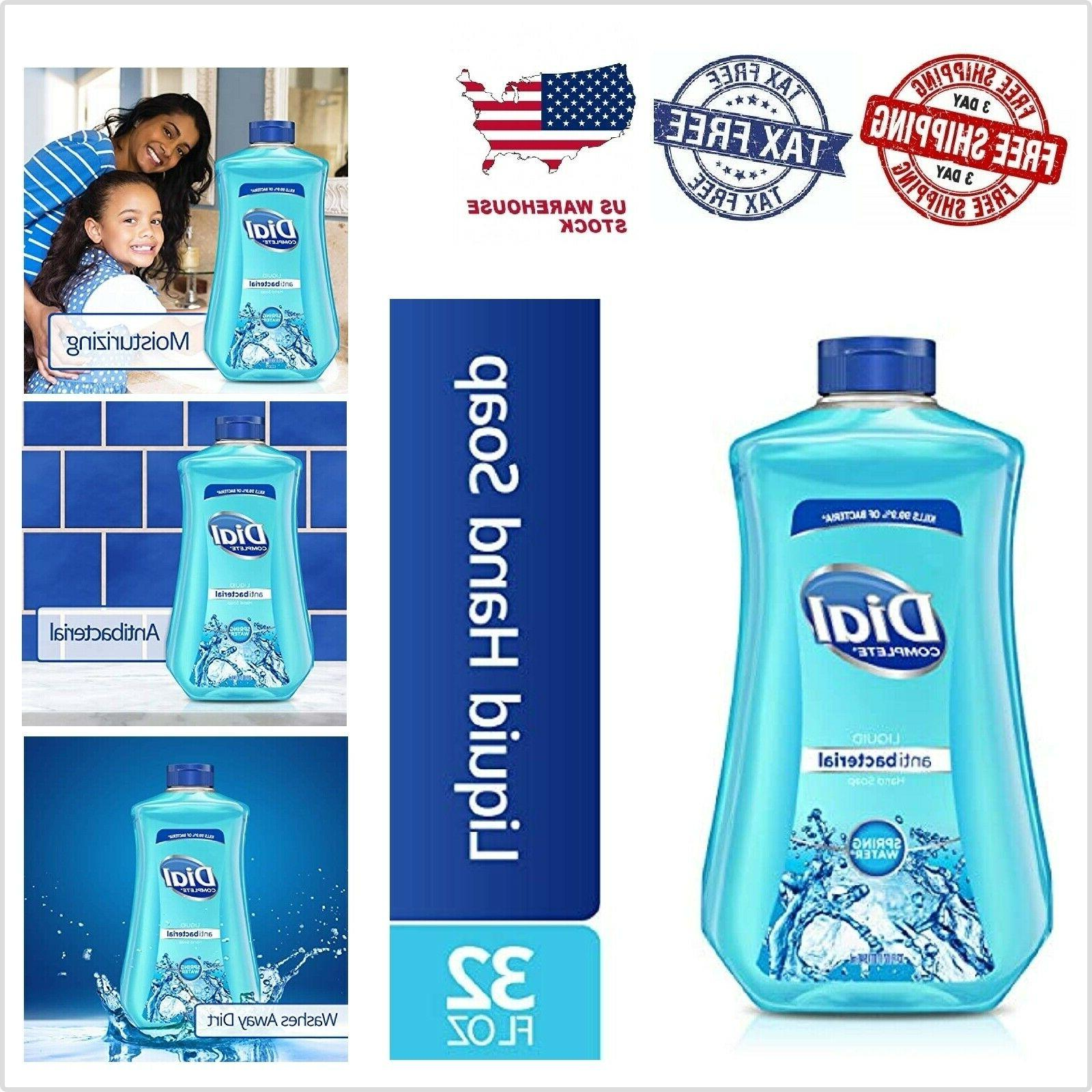 Dial Antibacterial Liquid Hand Soap Refill, Spring Water, 32