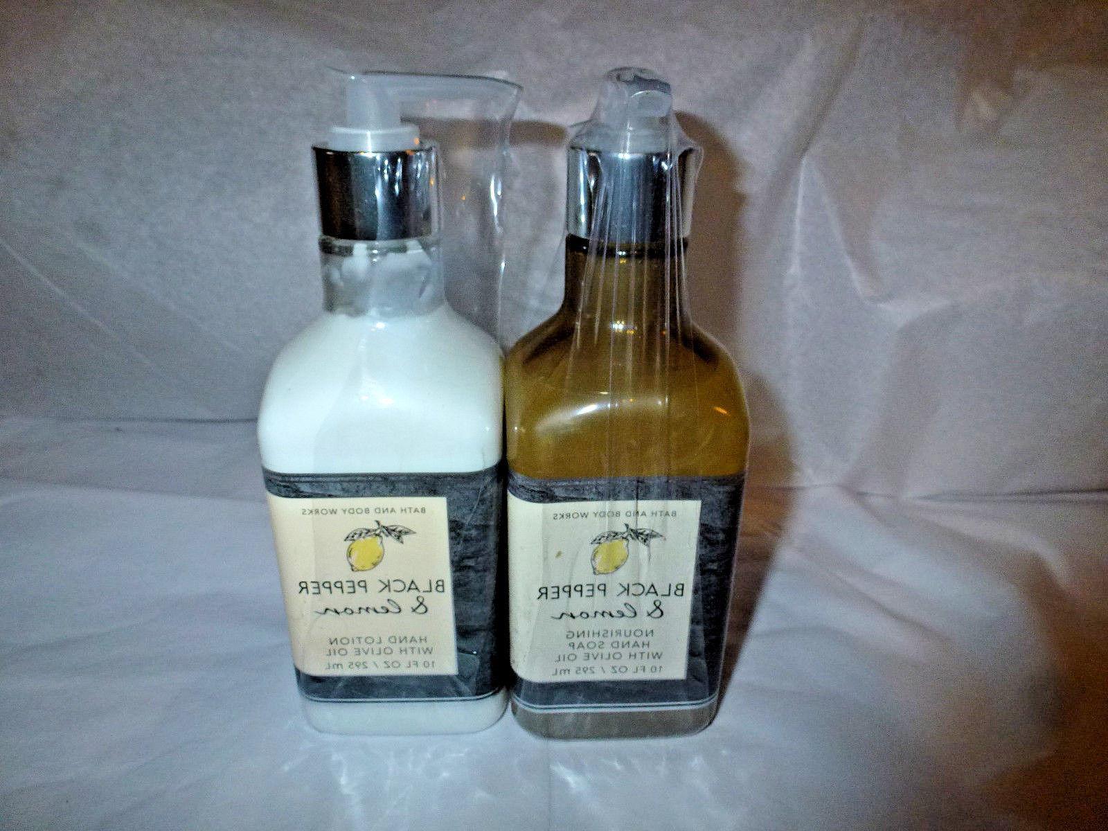 Bath & Body Works BLACK PEPPER & LEMON Hand Soap + Hand Loti