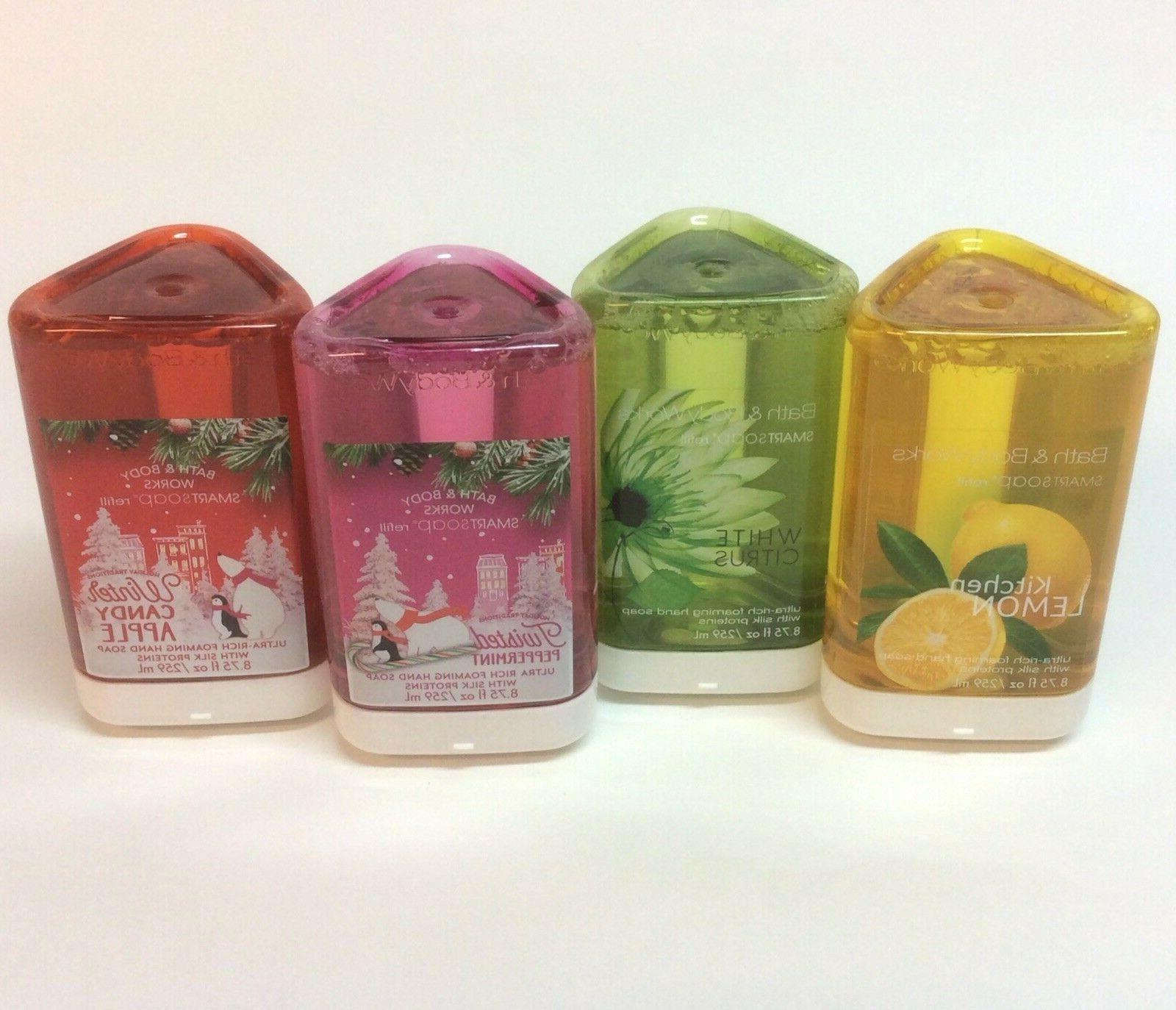 Bath Works Smartsoap Soap Refill Lemon Citrus Candy Peppermint