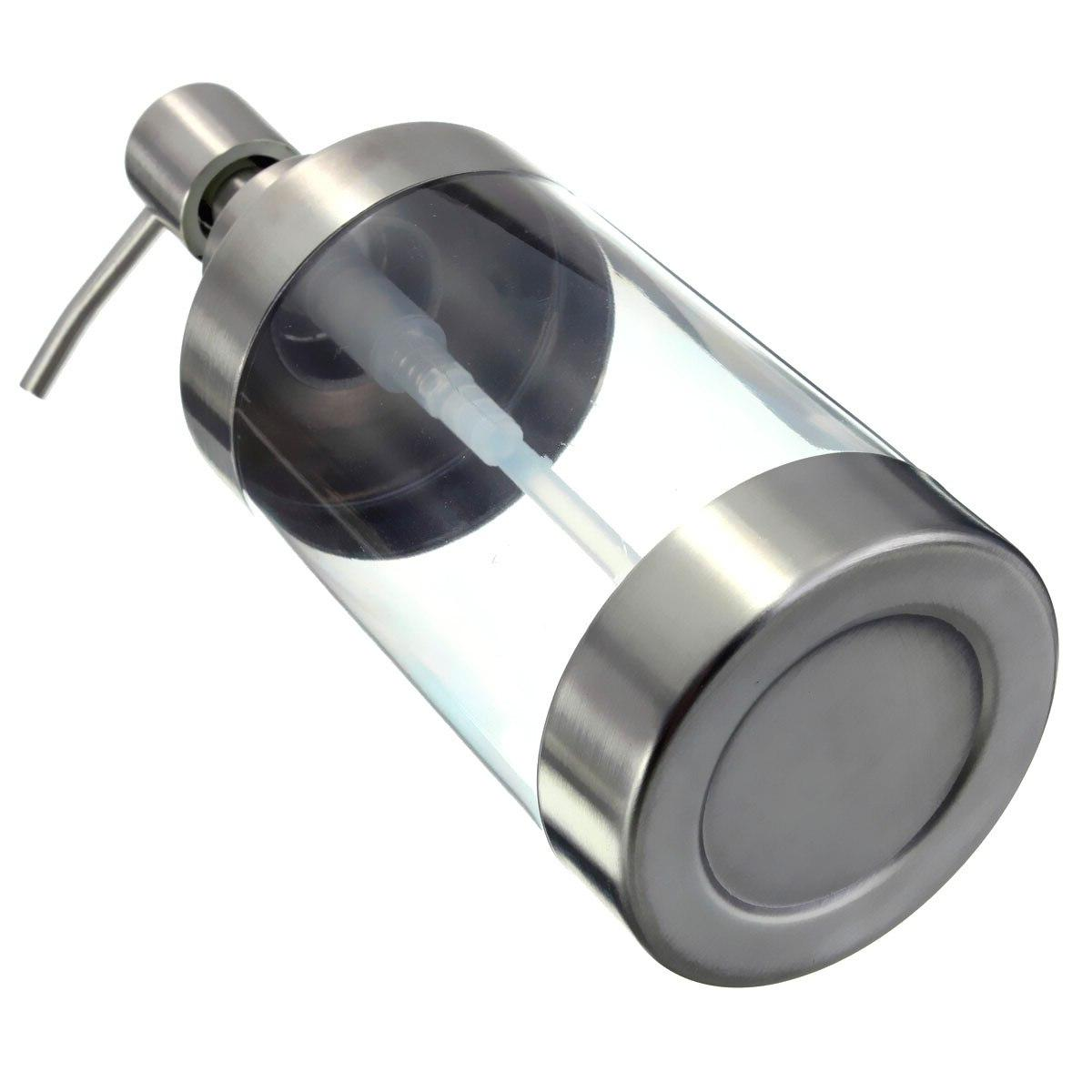 Transparent <font><b>Hand</b></font> Dispenser Lotion Bottle Stainless Steel