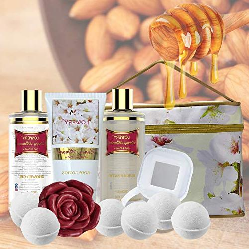 Valentine's Gifts - Bath Body Basket For Women – Set with Fragrant 6 Bath Travel More - 14 Set