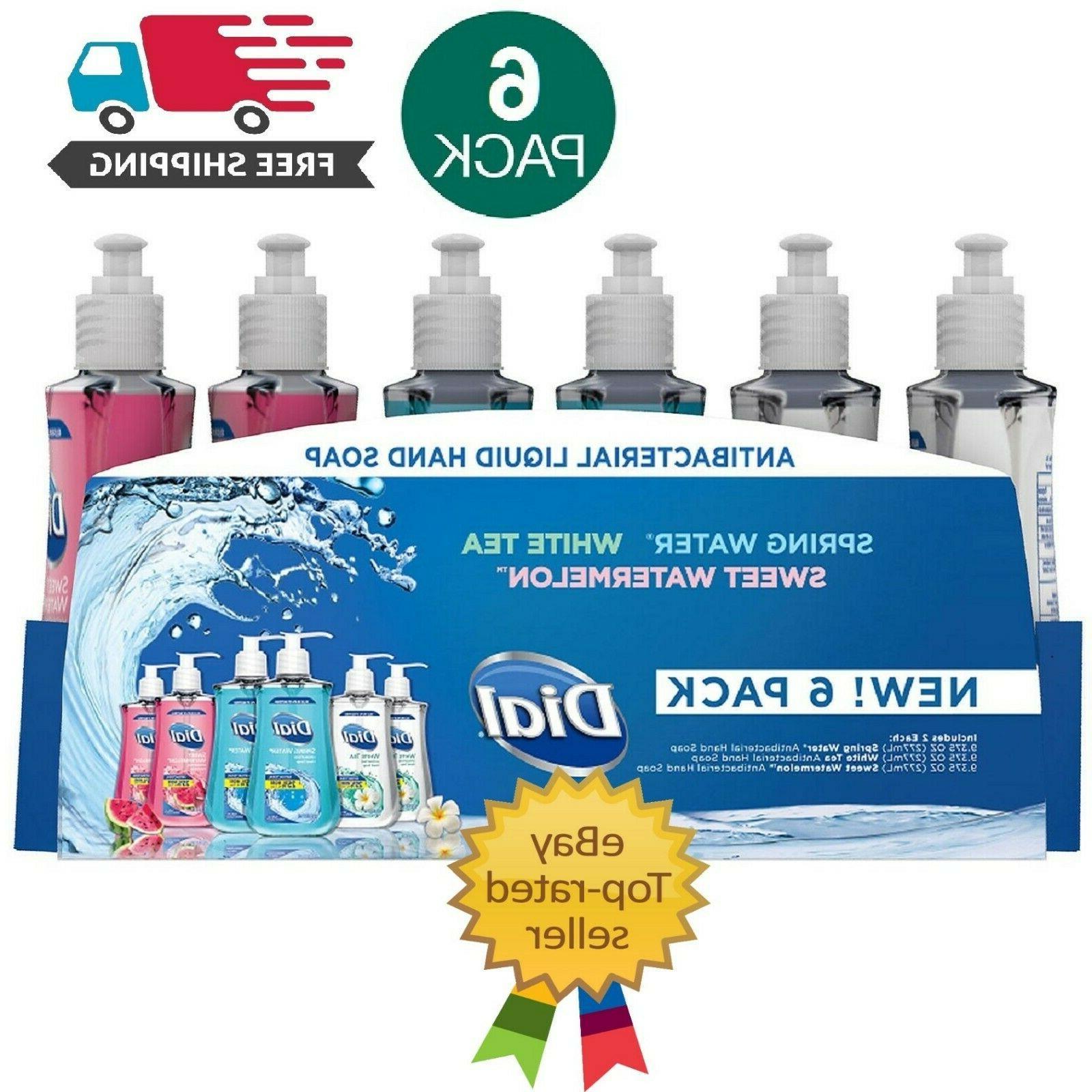 dial antibacterial liquid hand soap variety 6