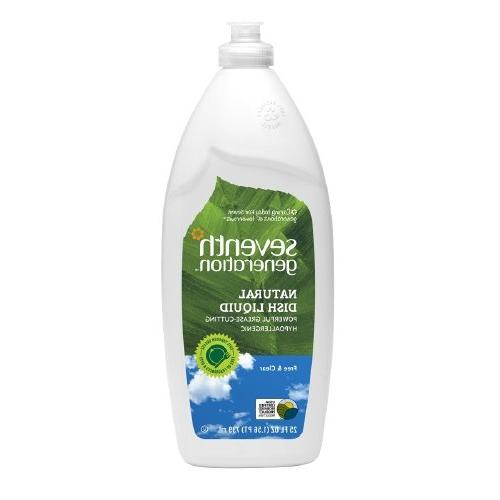 Seventh Generation Natural Dishwashing Liquid in Free and Cl