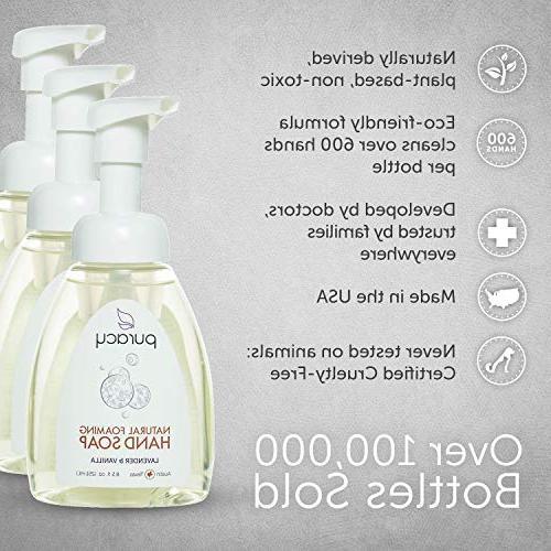 Puracy Natural Foaming Soap Sulfate-Free Wash, Lavender Vanilla, 8.5