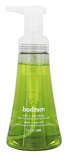 Method Foaming Hand Wash, Green Tea & Aloe, 10 Oz Pump Bottl