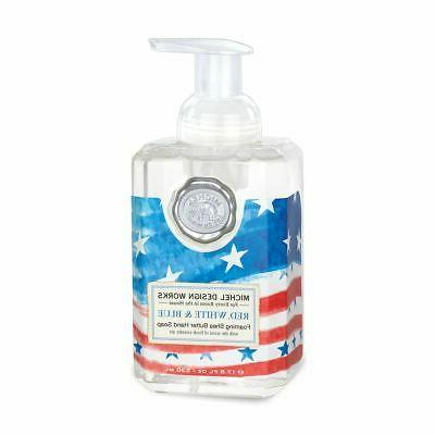 foaming liquid hand soap red white