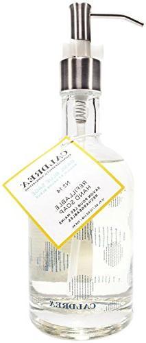 Caldrea Glass Refillable Hand Soap, Basil Blue Sage, 12 Ounc