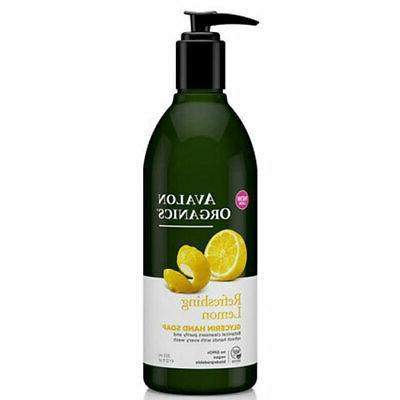 Avalon Organics Glycerin Hand Soap, Lemon, 12 Ounce by Avalo