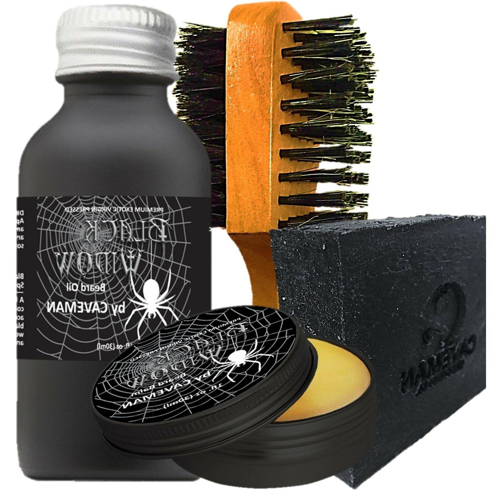 Hand Crafted Caveman® Beard Oil Gift Set Kit Beard Oil Hair Care & Styling Balm Free Beard Brush Health & Beauty