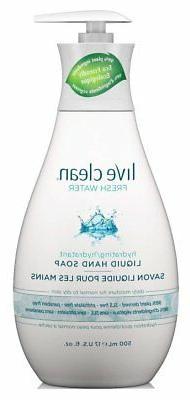 Live Clean Hand Soap Fresh Water 17oz Pump