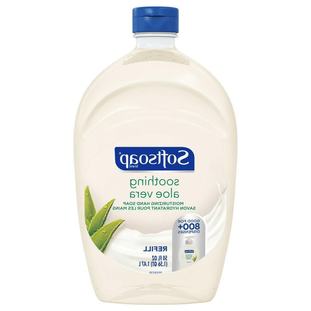 hand soap moisturizing soothing aloe vera refill