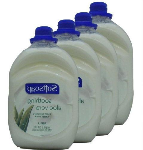 Softsoap Hand Soap Soothing Aloe Vera Hand Soap Fluid Ounce Bottle, Pack 3