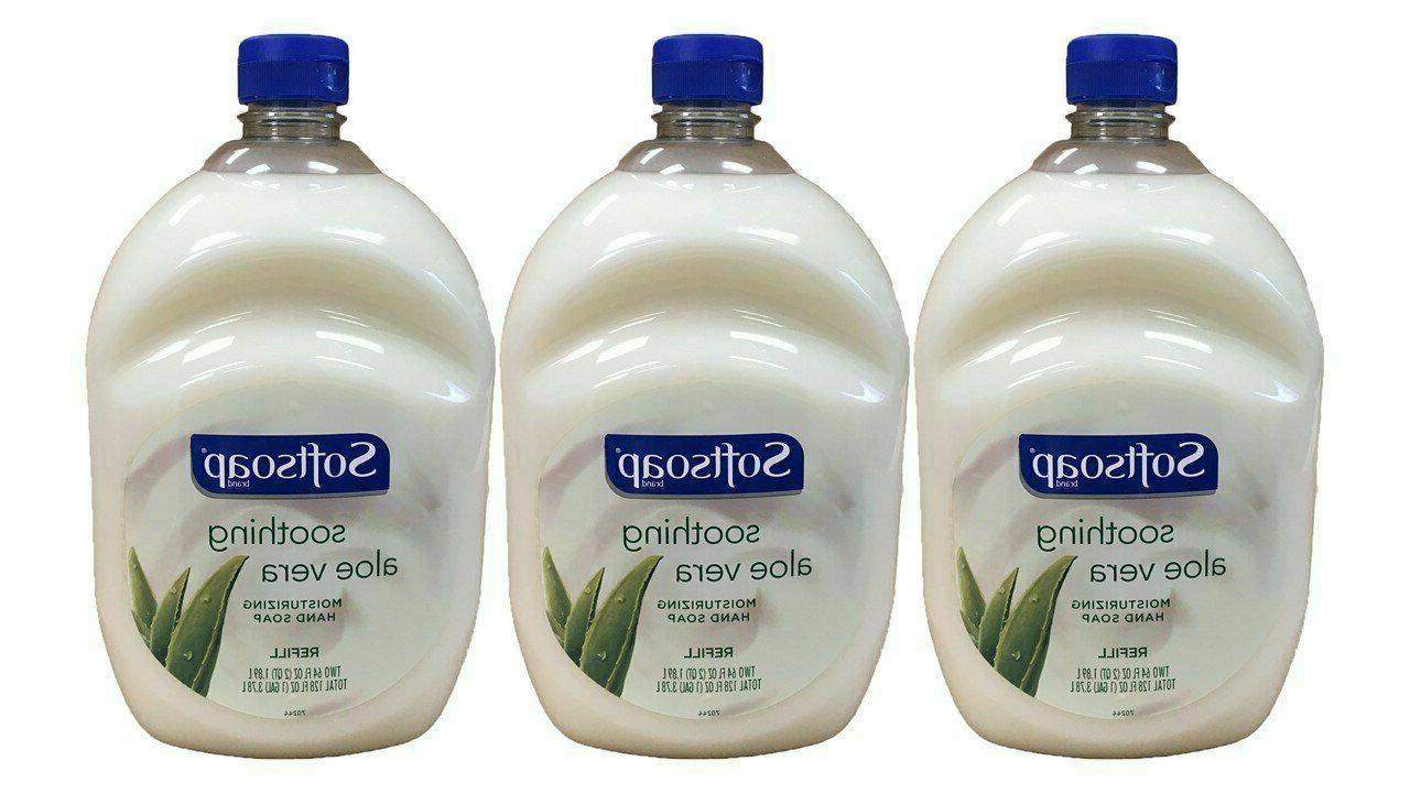 hand soap soothing aloe vera moisturizing 64