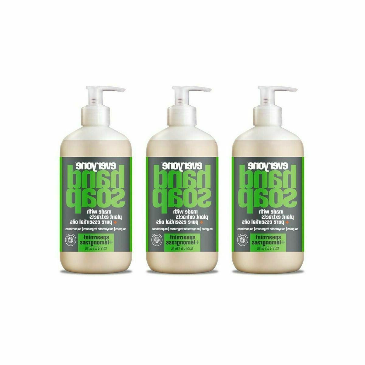 Everyone Hand Soap: Spearmint and Lemongrass, 12.75 Ounce, 3
