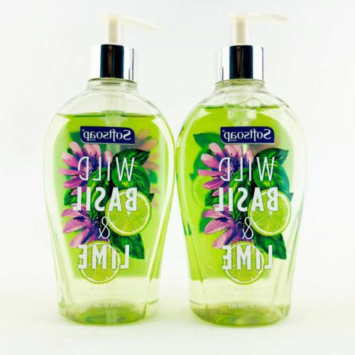 hand soap wild basil and lime scent