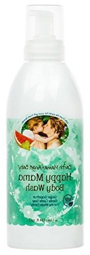 Earth Mama Morning Wellness Body Wash for Pregnancy and Sens