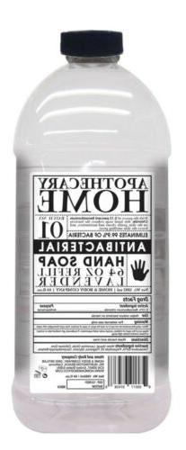 Home & Body Co. LAVENDER SAGE Apothecary Hand Soap REFILL, 6