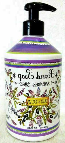 Home & Body Co. LAVENDER SAGE Hand Soap w/ Olive Oil Decorat