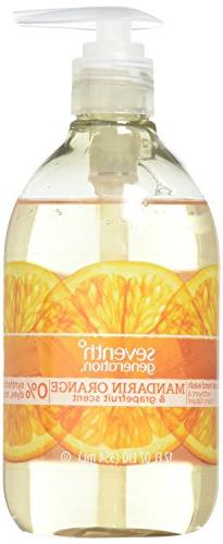 Seventh Generation Hypoallergenic Hand Wash, Mandarin Orange