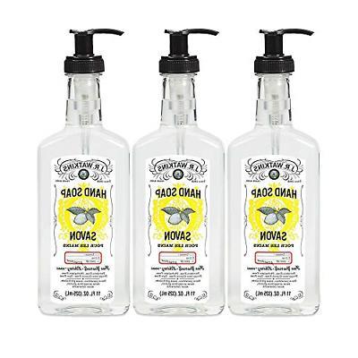 J.R. Watkins Hand Soap, Gel, 11 fl oz, Lemon 3 pack