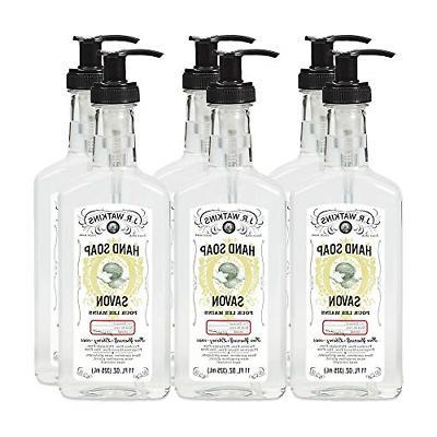 J.R. Watkins Hand Soap, Gel, 11 fl oz, Coconut 6 pack