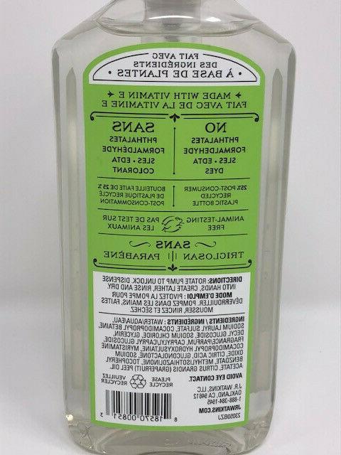 J.R. Soap & Green Tea Plant-Based Ing.