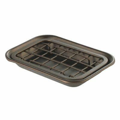 mDesign Kitchen Tray Drainage Grid &