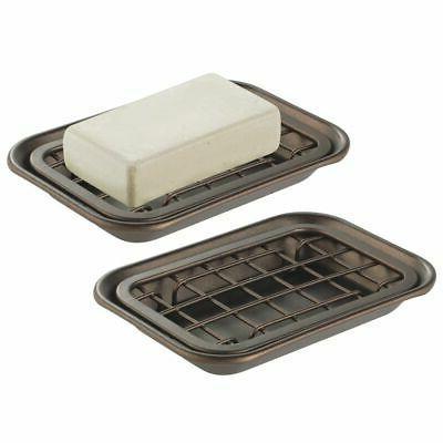 kitchen soap dish tray drainage grid