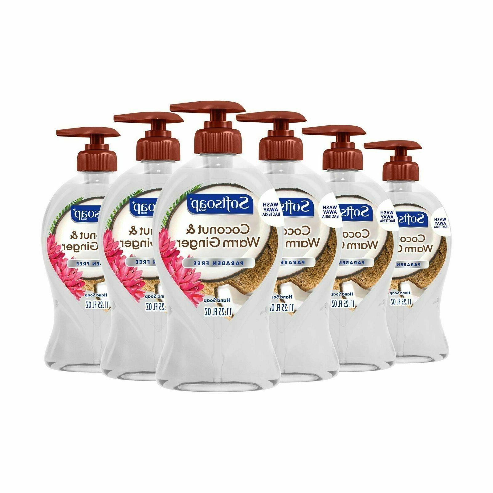 Softsoap Liquid Hand Soap, Coconut and Warm Ginger - 11.25 f