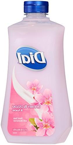 Dial Liquid Hand Soap Refill, Cherry Blossom/Almond, 32 Ounc