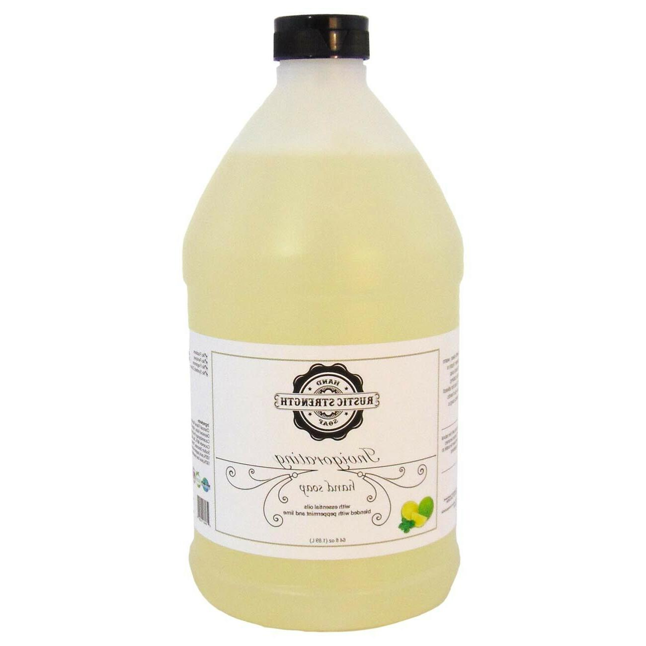 liquid hand soap invigorating peppermint and lime