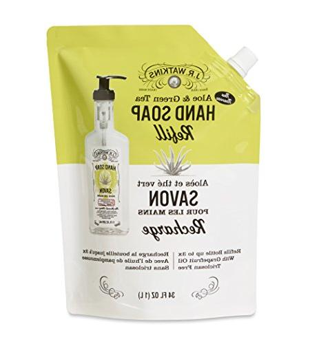 liquid hand soap pouch tea