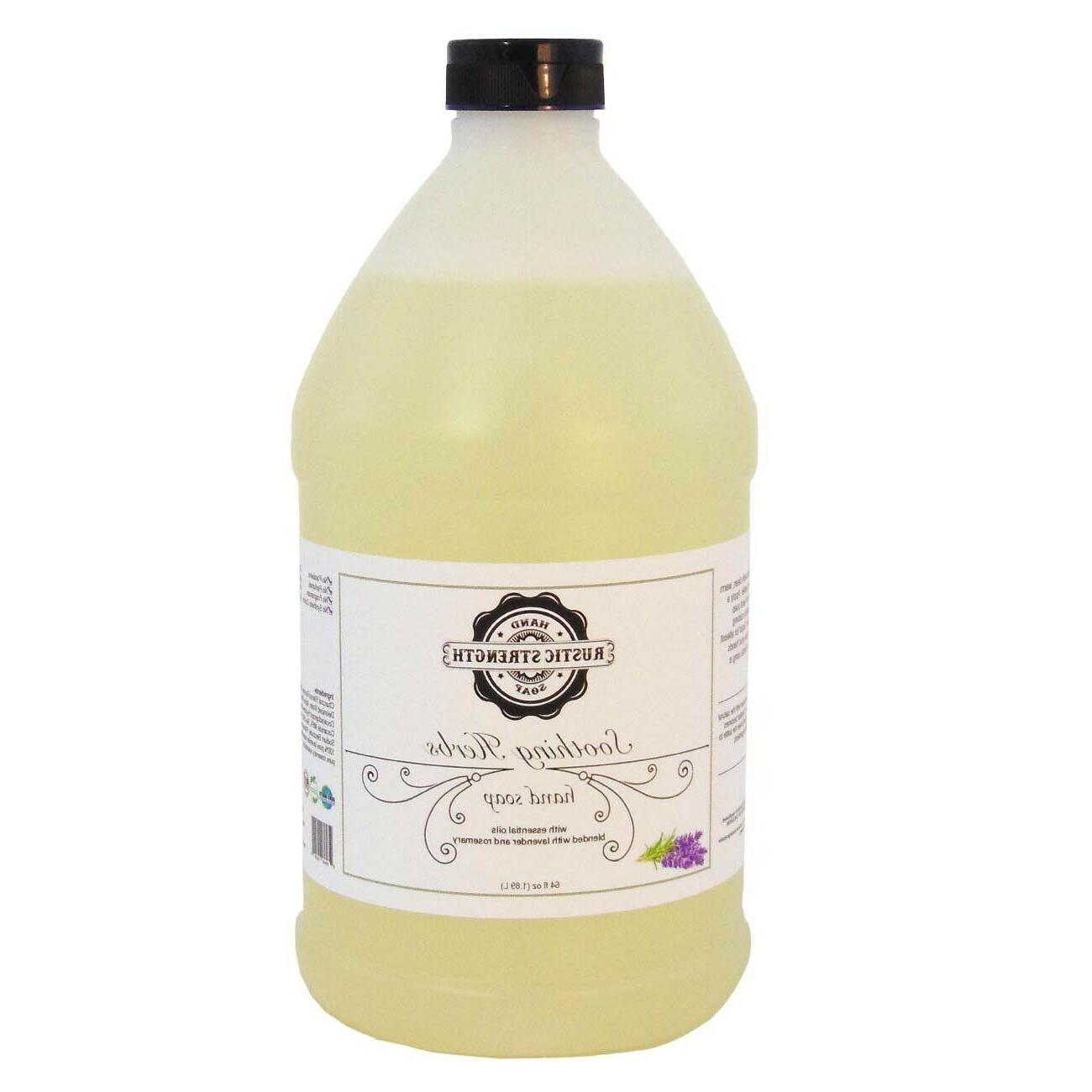 liquid hand soap soothing herb rosemary