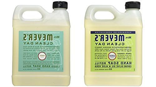 Mrs. Meyer's Liquid Hand Soap Refill, Lemon Verbena and Basi