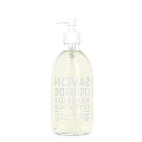 liquid soap cotton flower glass