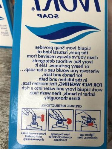LIQUID IVORY SOAP Soap Dispenser Vintage Lot Of 4