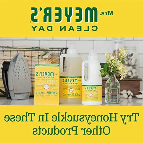 Mrs. Meyer's Clean Liquid Hand Soap Refill, Honeysuckle Scent, 33 ounce bottle